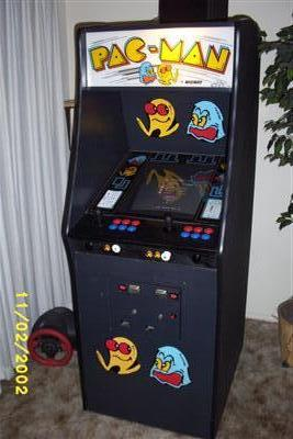 Within a few days I was there picking it up with a rental truck! He also gave me the original marquee and bezel as well as new black T-molding. & My Custom Pac-Man Arcade Cabinet at Bantha Fodder